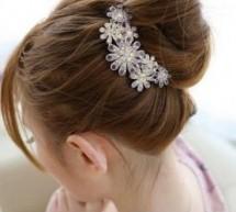 適合花苞頭髮飾 時尚唯美