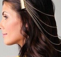 金屬髮鏈最受寵 搭出個性髮型