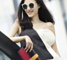 王麗坤氣質中分打造摩登時尚