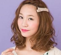 清新卷髮編髮 露額造型甜美可人
