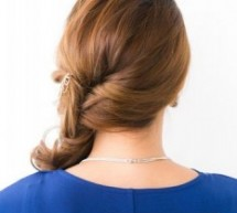 中長卷髮側邊扎髮更顯優雅范兒