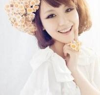 2015短髮新娘髮型 韓式宮廷感