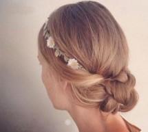 新娘帶花髮型打造浪漫唯美最驚艷新娘
