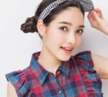 可愛甜美簡單韓式長直髮扎髮教程